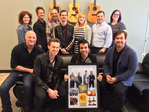 Left to Right (back row): Nina Woodard, Blaine Barcus, Andrew Patton, Ben Brown,  JoAnna Illingworth, Jimmy Wheeler, Amanda Snyder, Provident Label Group Left to Right (bottom row): Aaron Branch, Jason Roy, Jesse Garcia, Michael Anderson, Building 429